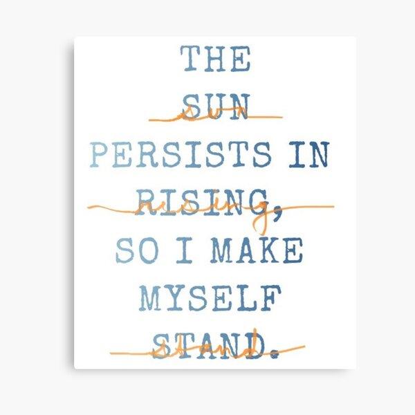 Suzanne Collins Quote Canvas Print