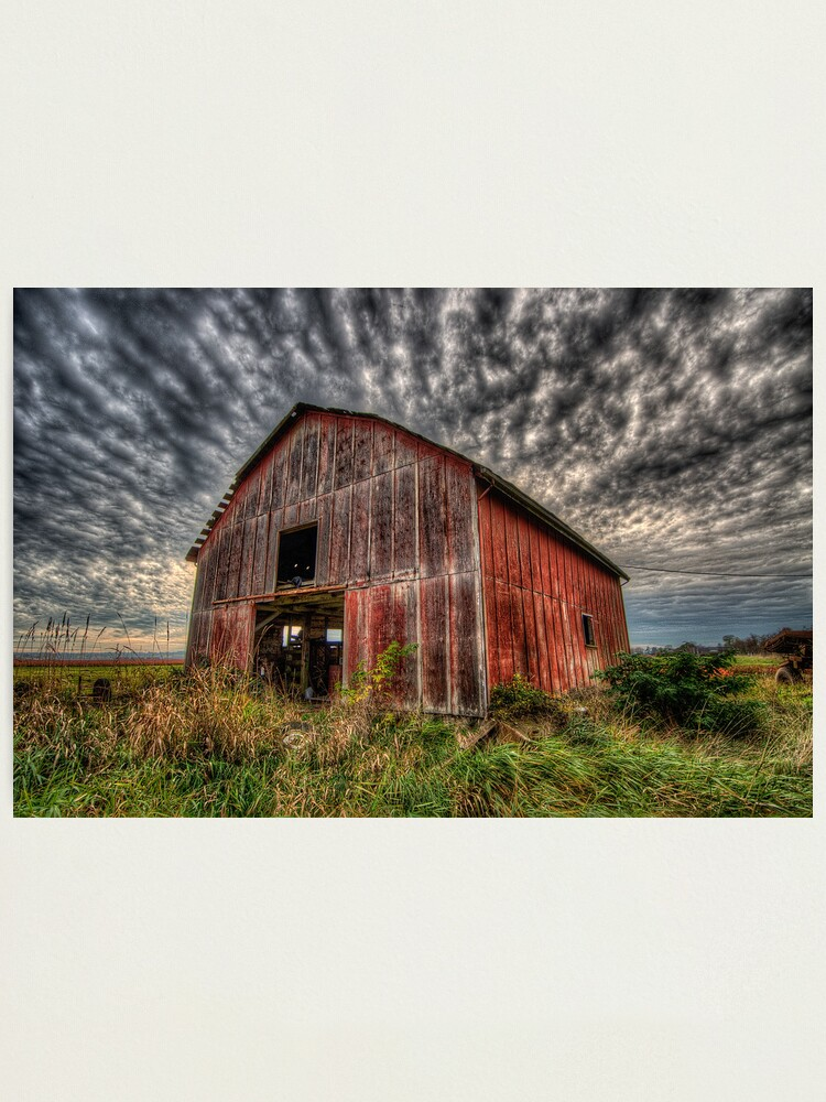 Alternate view of Red Barn Photographic Print