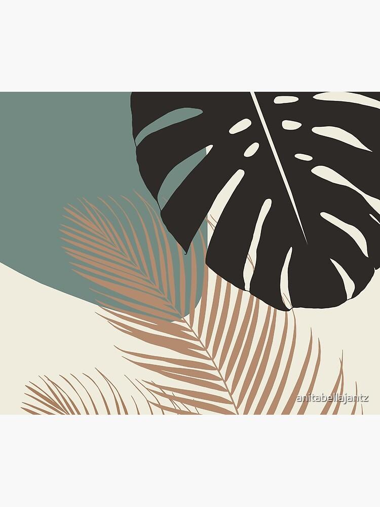 Minimal Monstera Palm Finesse #1 #tropical #decor #art  by anitabellajantz