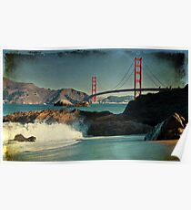 Baker Beach, San Francisco, Golden Gate Bridge Poster