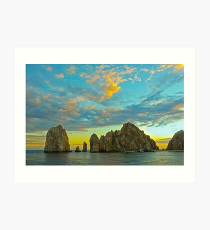 Sunset on Los Cabos Art Print