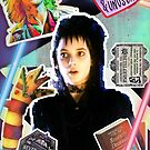 Beetlejuice inspired collage! Halloween, Tim Burton, retro 1990s, sandworm by Edgot Emily Dimov-Gottshall