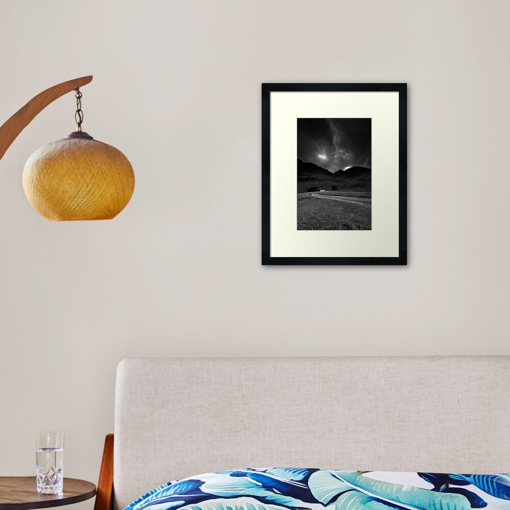 Twin cottages Framed Art Print