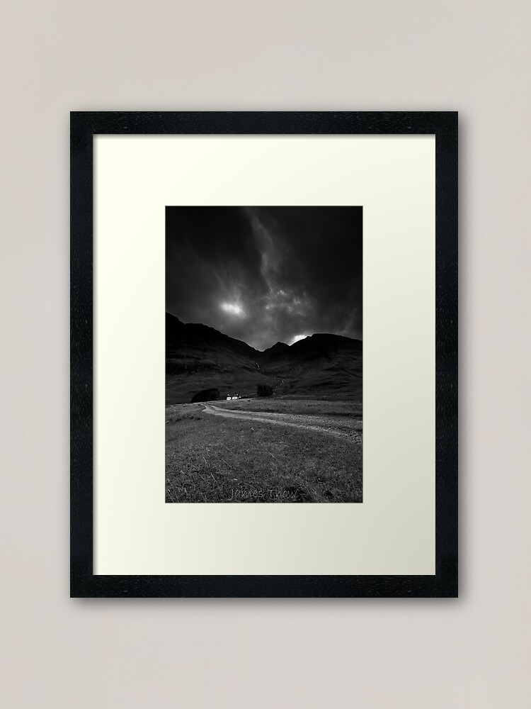 Alternate view of Twin cottages Framed Art Print