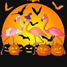 Glücklicher lustiger Flamingo Halloweens von Packrat