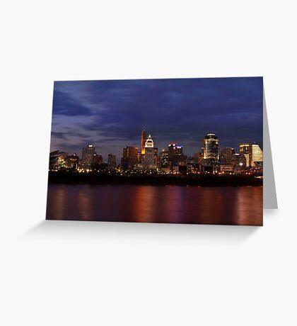 Sky Line Cincinnati Greeting Card