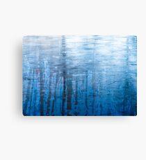 Blue Ice Reflexion Canvas Print