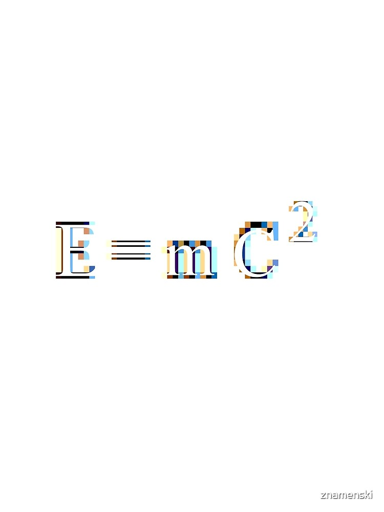 E = mC² #Equation derived by the twentieth-century physicist Albert #Einstein, in which E is #Energy, m is mass, and C² is Speed of Light squared, or multiplied by itself - #Relativity by znamenski