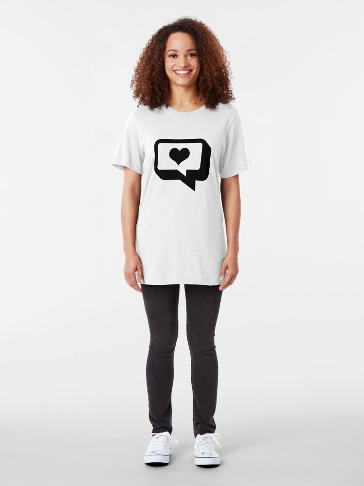 Alternate view of Love Talk. Slim Fit T-Shirt