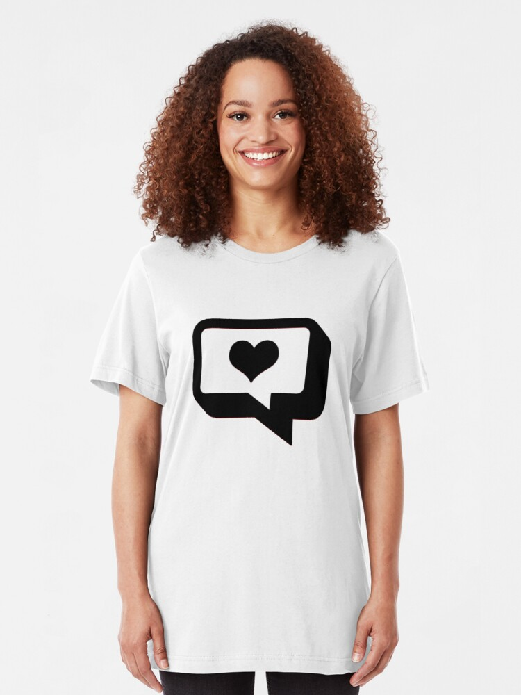 Alternate view of Love Talk. Slim Fit T-Shirt