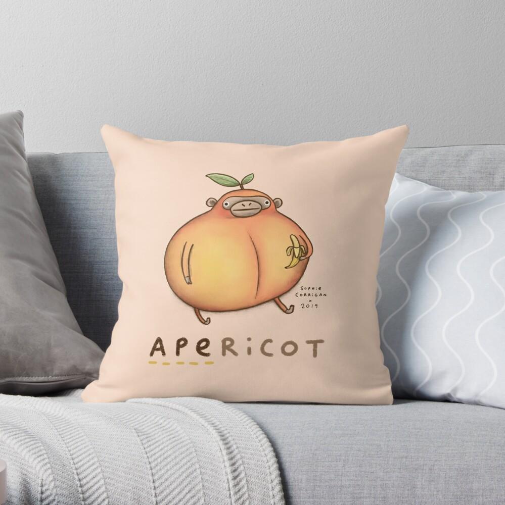 Apericot Throw Pillow