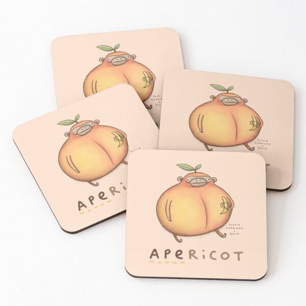 Apericot Coasters (Set of 4)