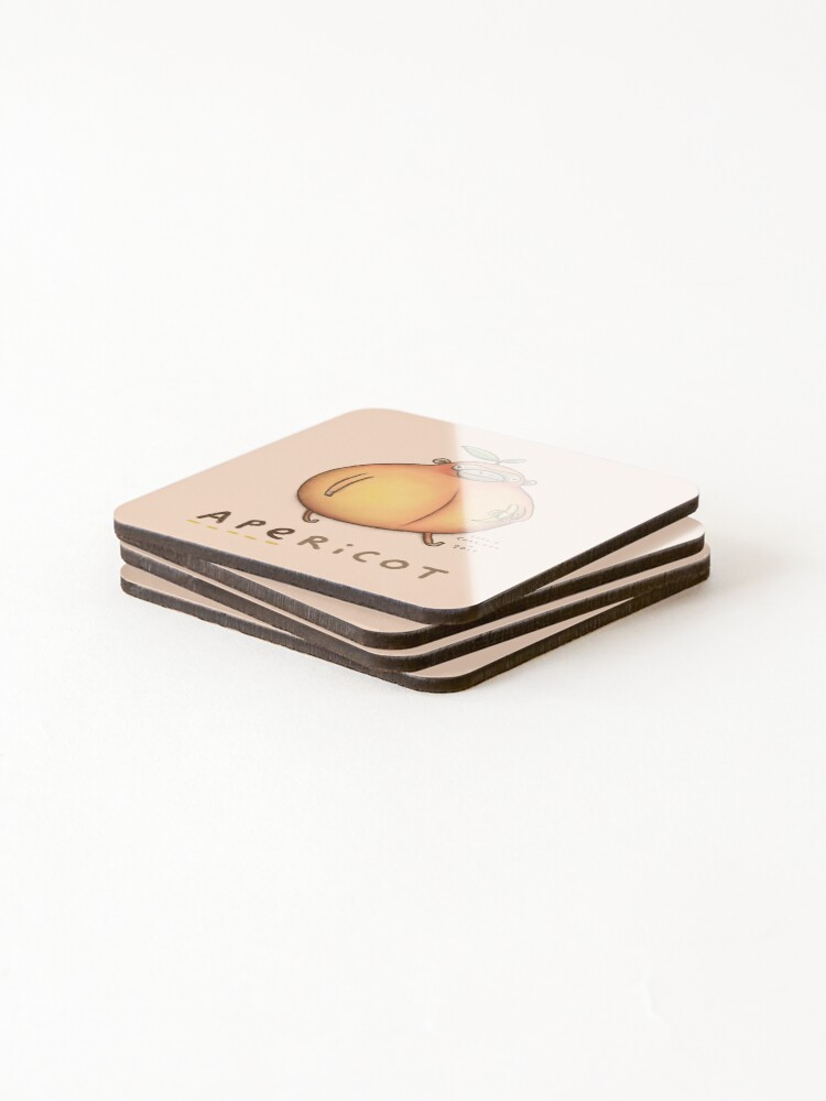 Alternate view of Apericot Coasters (Set of 4)
