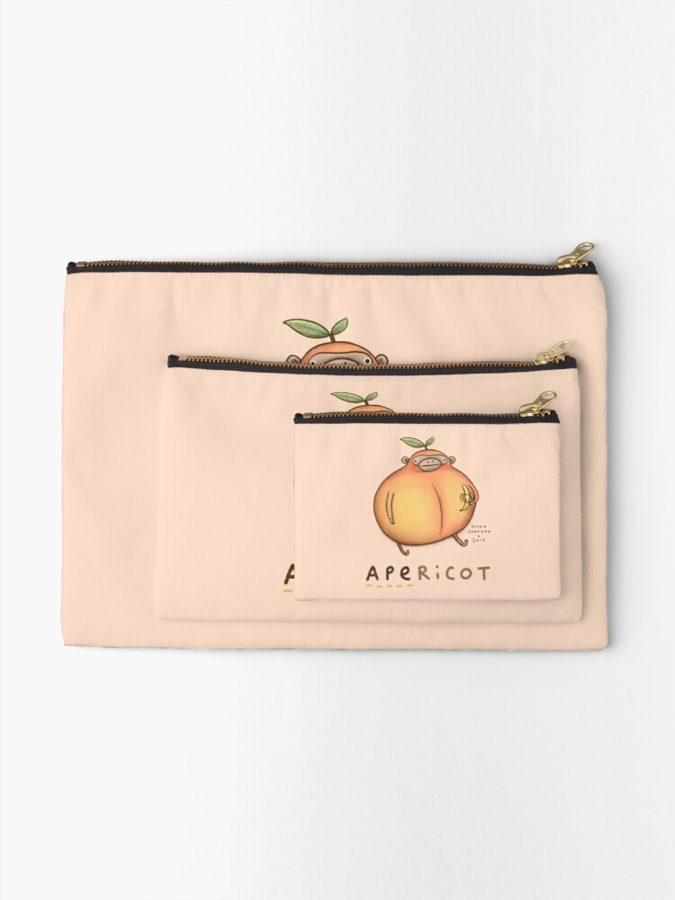 Alternate view of Apericot Zipper Pouch