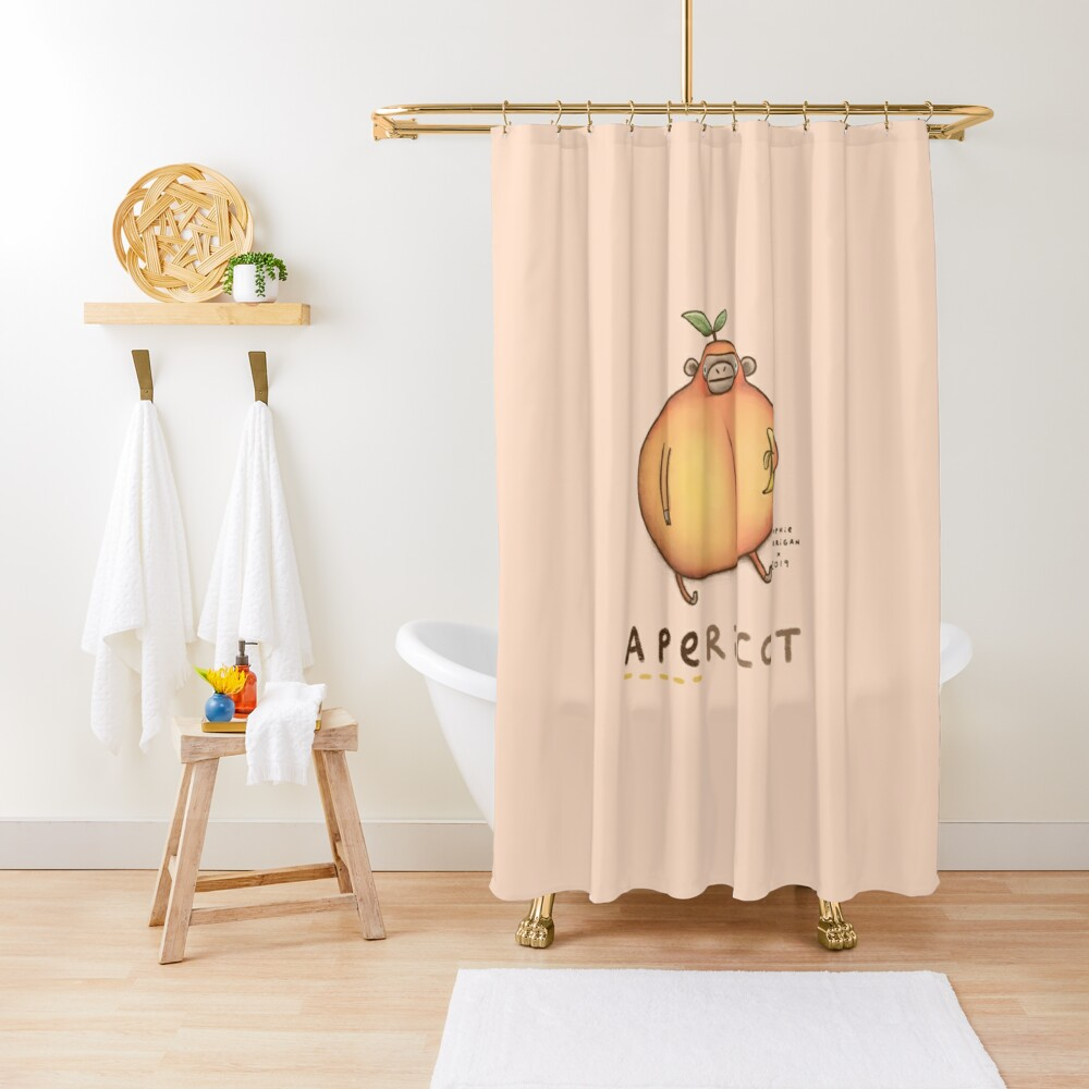 Apericot Shower Curtain