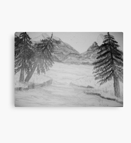 Rocky Mountain Scene Canvas Print