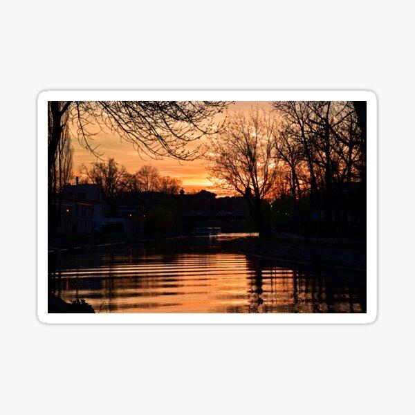 Sunset at the Bega Sticker