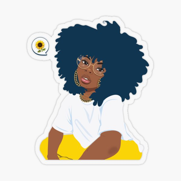 Sunflower Diva Transparent Sticker