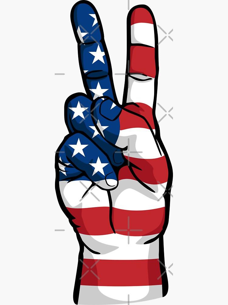 Patriotic USA Peace Sign by hobrath