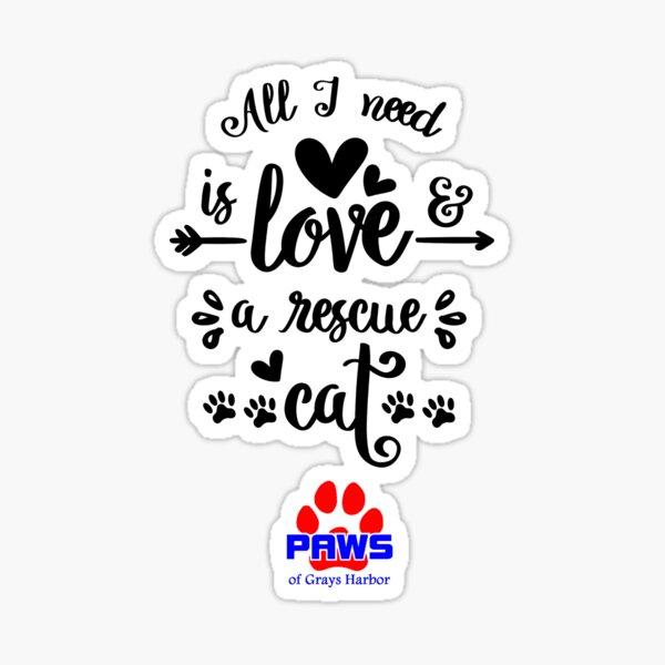 Love and a rescue cat Sticker