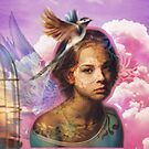 Wrinkle in Time inspiration collage. Heavens sky, Madeleine L'engle by Edgot Emily Dimov-Gottshall