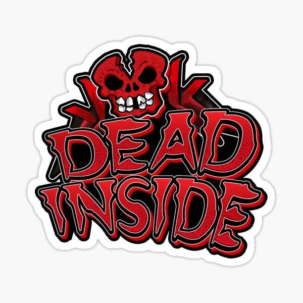 Dead Inside - Dead of the Dead Style Skull Logo Red Sticker