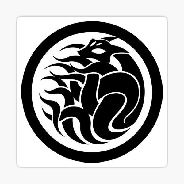 SCP Nine-Tailed Fox Vector Logo  Sticker