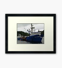 Salmon Boat Framed Print