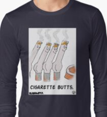 Cigarette Butts. Long Sleeve T-Shirt
