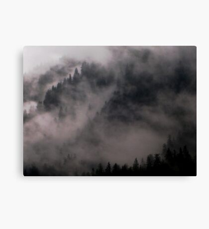 Hill fog Canvas Print