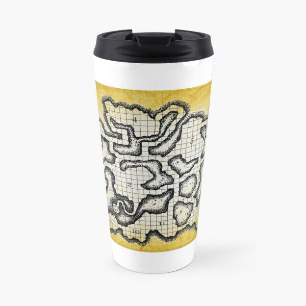 Old School Dungeon Map Art   Goblin Caves Travel Mug