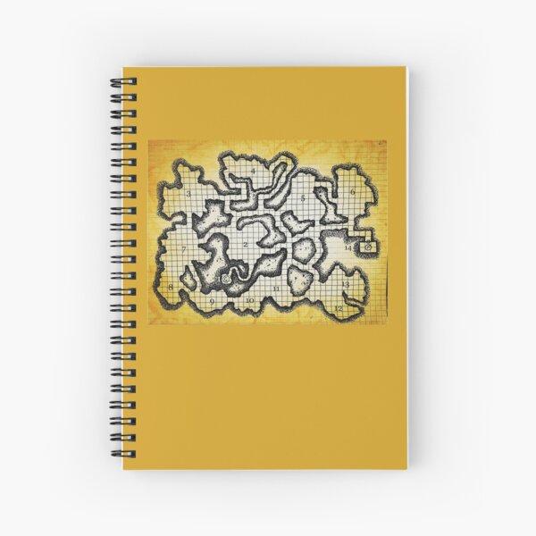 Old School Dungeon Map Art   Goblin Caves Spiral Notebook