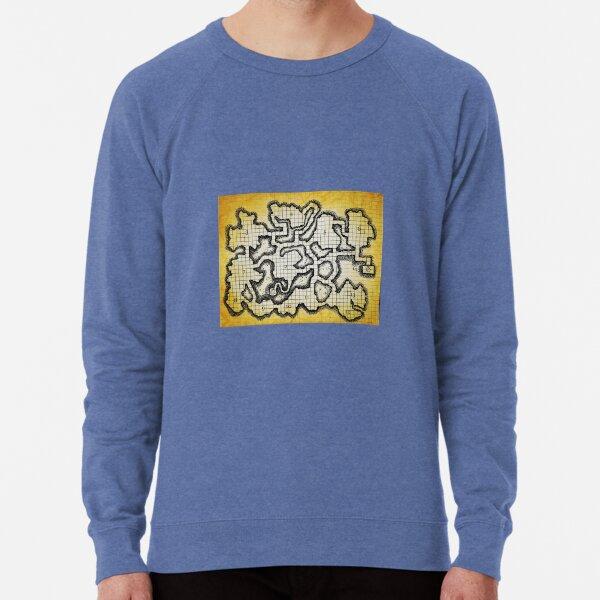 Old School Dungeon Map Art | Goblin Caves Lightweight Sweatshirt