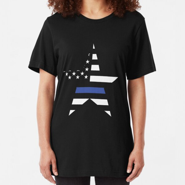 Police Heartbeat Thin Blue Line Girls Boys Short Sleeve Tshirts Clothing
