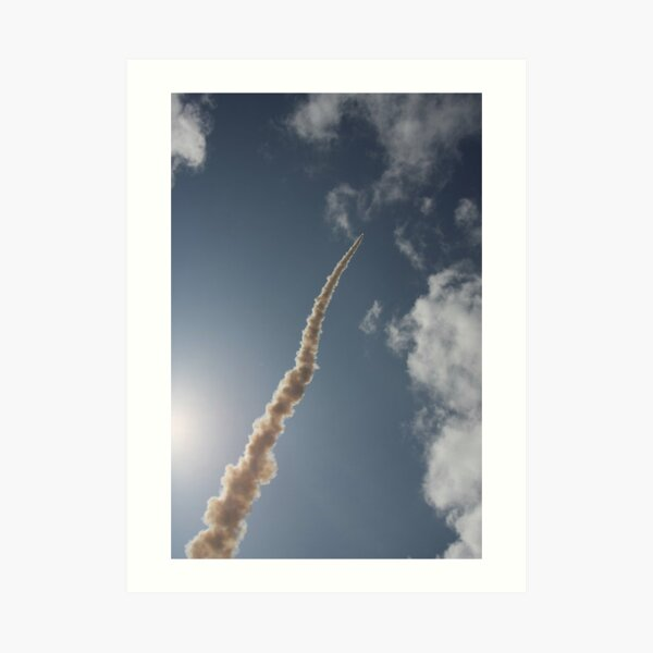 Rocket Launch 2 - skywards Art Print