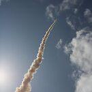 Rocket Launch 2 - skywards by Peter Barrett