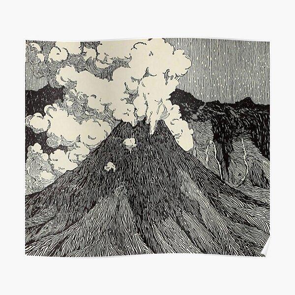 Naturalist Volcano Poster