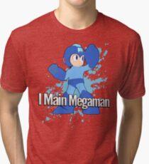 I Main Megaman - Super Smash Bros. Tri-blend T-Shirt