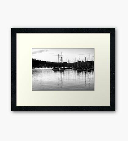 It's All Black And White - Newport, Sydney - The HDR Experience Framed Print