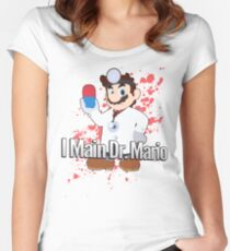 I Main Dr. Mario - Super Smash Bros. Women's Fitted Scoop T-Shirt