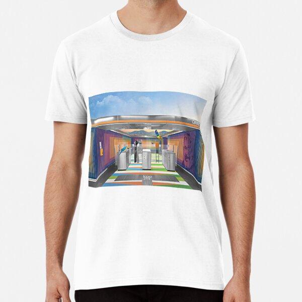 Un pedacito de arte y cinetismo del gran maesto Cruz Diez en el metro de Madrid Camiseta premium