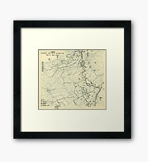 World War II Twelfth Army Group Situation Map October 4 1944 Framed Print