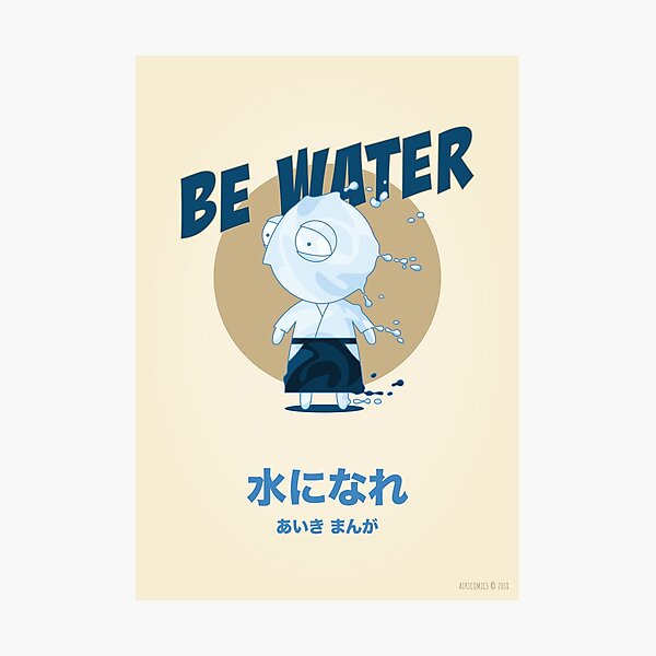 Be Water Photographic Print