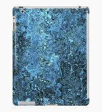 Abstract Black And Blue Pattern iPad Case/Skin