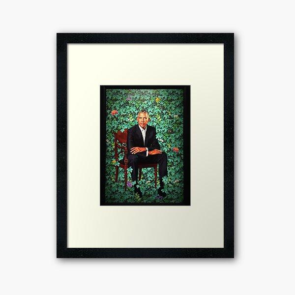 Gerahmter Präsident Barack Obama Smithsonians National Portrait Gallery Gerahmter Kunstdruck