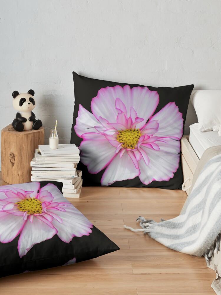 Alternative Ansicht von Blume in pink & weiß, Blumen, Blüte, Garten, Natur Bodenkissen