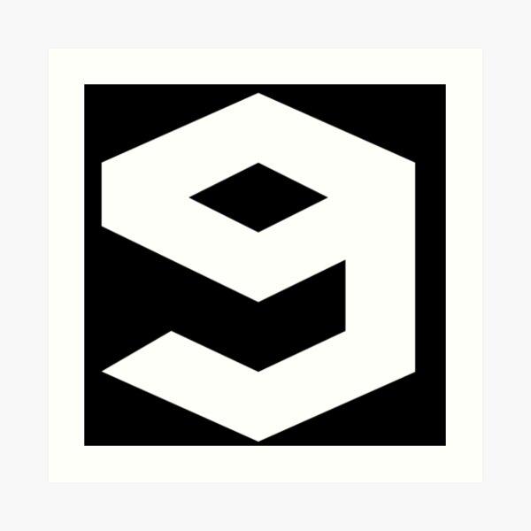 9gag Logo (White Version) Art Print