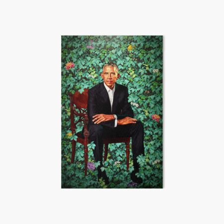 Unframed President Barack Obama Smithsonian's National Portrait Gallery Art Board Print