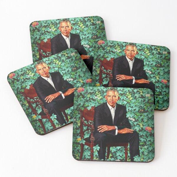 Unframed President Barack Obama Smithsonian's National Portrait Gallery Coasters (Set of 4)