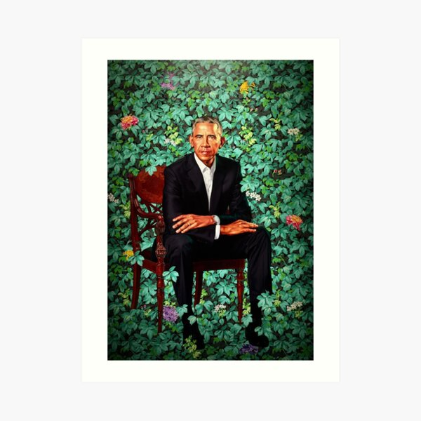 Unframed President Barack Obama Smithsonian's National Portrait Gallery Art Print
